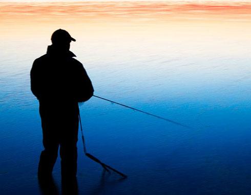 Рыбалка на озере шейно